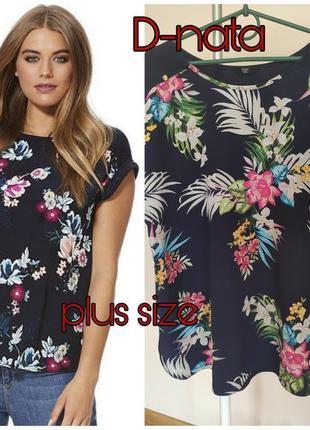 Красивый топ- блуза в тропический принт
