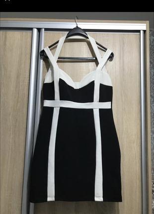 Чёрное короткое женское платье лето