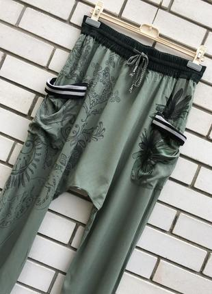 Штапельные брюки афганы саруэл алладины  штаны для йоги вискоза desigual