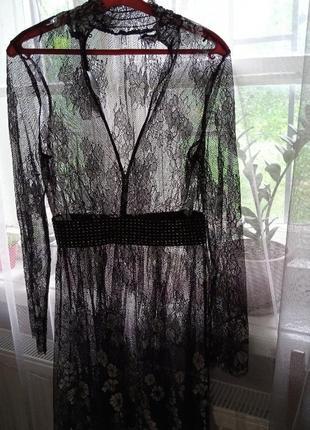Шикарное сексуальное платье кружевное