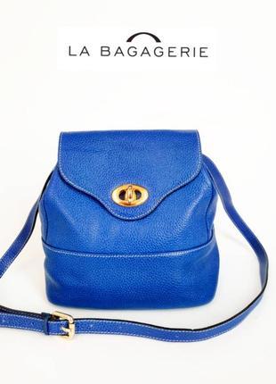 La bagagerie jean marlaix. франция. кожаная сумка через плечо
