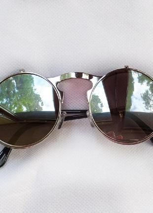 Очень классные и стильные солнцезащитные очки круглая оправа!3 фото