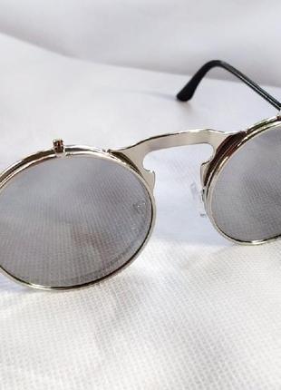 Очень классные и стильные солнцезащитные очки круглая оправа!2 фото