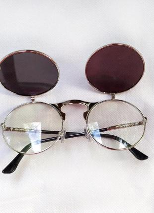 Очень классные и стильные солнцезащитные очки круглая оправа!4 фото