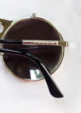Очень классные и стильные солнцезащитные очки круглая оправа!5 фото