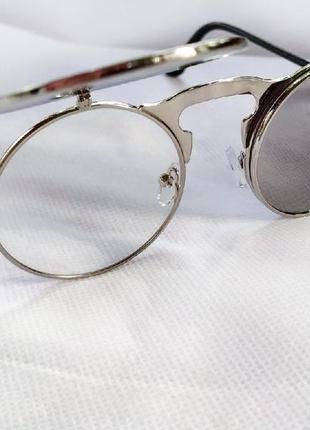 Очень классные и стильные солнцезащитные очки круглая оправа!7 фото