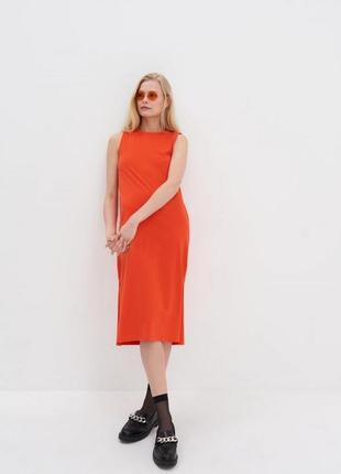 Платье миди  органичный хлопок