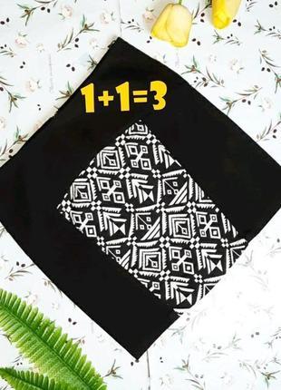 🌿1+1=3 фирменная оригинальная черная короткая юбка numph вышиванка, размер 44 - 46