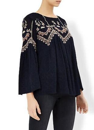 Очень красивая блуза с вышивкой,вышиванка ,рубаха этно,бохо деревенский стиль monsoon