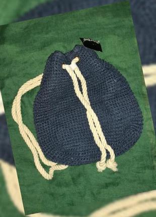 Сумка рюкзак из рафия