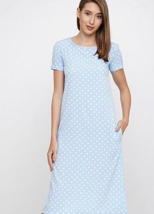 Нова літня сукня в горох. платье на лето миди. casual