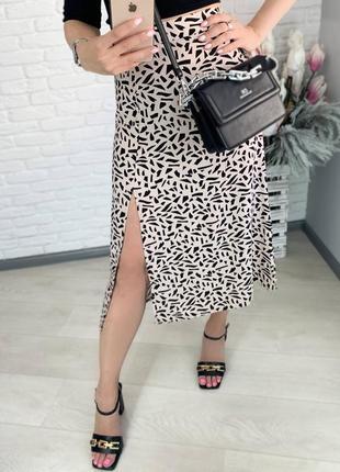 Юбка штапель юбка миди, с разрезом.5 фото