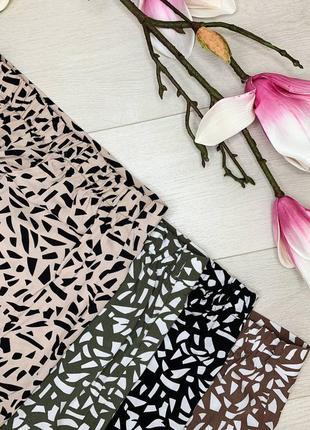 Юбка штапель юбка миди, с разрезом.9 фото
