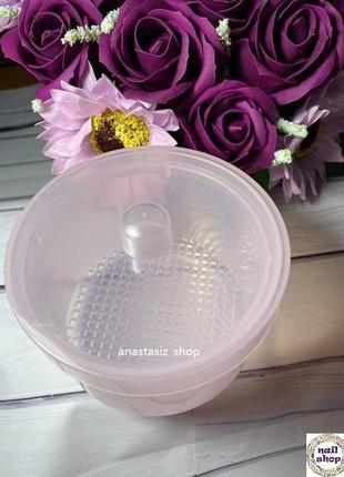Контейнер для хранения и дезинфекции фрез пластиковый2 фото