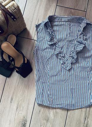 Блузка на короткий рукав в полоску