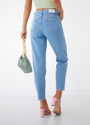 Класичні джинси мом висока посадка жіночі 🇹🇷7 фото