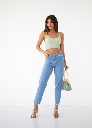 Класичні джинси мом висока посадка жіночі 🇹🇷