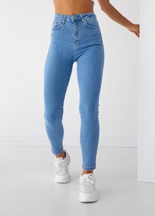 Джинсові штани скінни американки slim 🇹🇷висока посадка1 фото