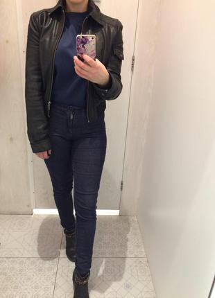 Кожанная куртка zara trf