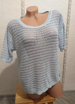 Летняя блуза,  легкий джемпер, оверсайз. (5635)