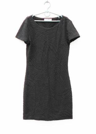 Черное  мяленькое базовое  платье