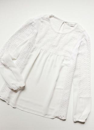 Miss selfridge блуза с вышивкой ришелье