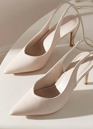 Шикарные бежевые туфли новые 😍