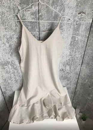 Новое молочное белое платье с-м бретели тренд