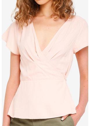 Jack wills новая женская блуза персикового цвета на запах.