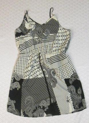 Легкий черно-белый сарафан