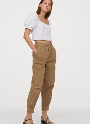 Объемная укороченная блуза