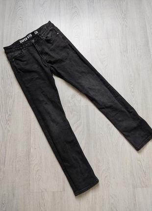 Черные базовые джинсы штаны брюки