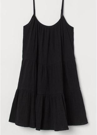 Батальное платье/сарафан, трапеция,рюшы, хлопок,стильное,миди, жатка