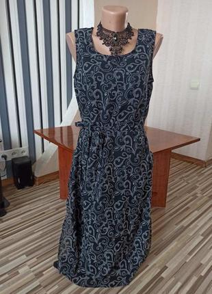 Шикарное чёрное платье с узором