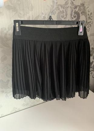 Плиссированная юбка-шорты zara