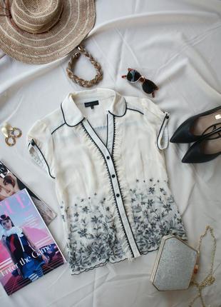 Неймовірна блуза вишиванка шифон ivory next
