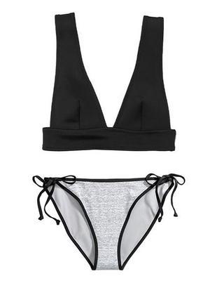 Стильный купальник бикини h&m, двусторонние плавки, м 38 euro