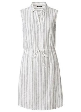 Платье сарафан льняное в  полоску