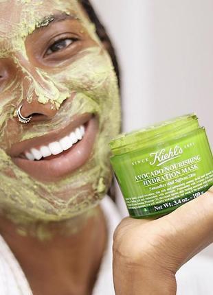Питательная маска kiehl's since 1851 avocado nourishing hydration mask, 25 гр