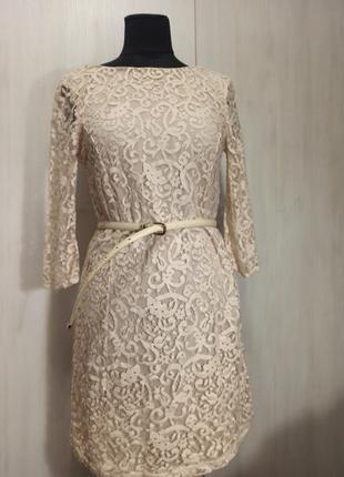 Платье гипюровое h&m