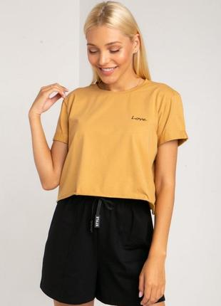 Кроп-футболка love, размер xxs-m
