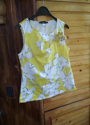 Натуральна бавовняна блузка блузочка майка топ patrizia dini
