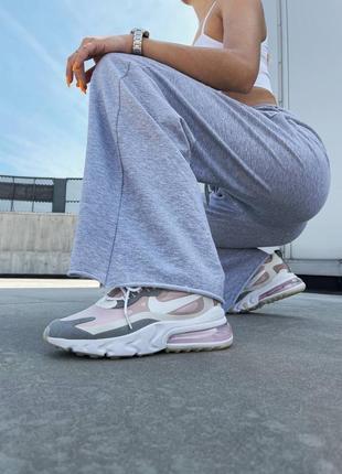 React 270 pink grey кроссовки розовые найк6 фото