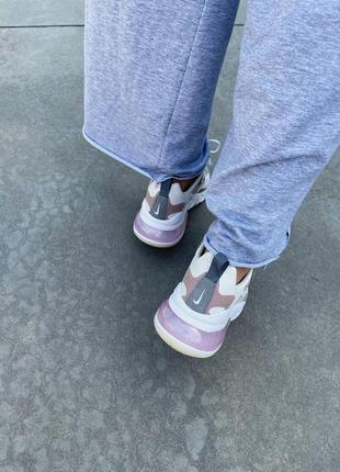 React 270 pink grey кроссовки розовые найк5 фото