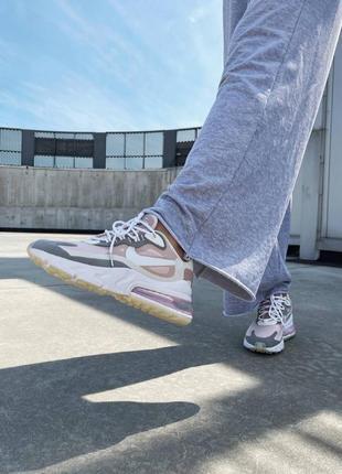 React 270 pink grey кроссовки розовые найк8 фото