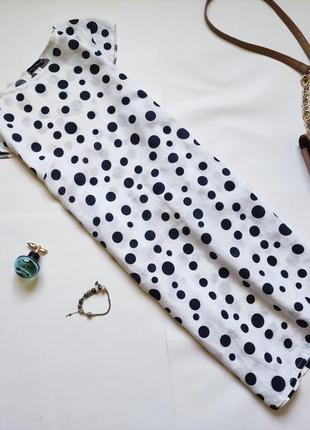 Льняное платье в горох luca vanucci