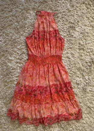 Шифоновое платье, сарафан zara. размер s-m. оригинал