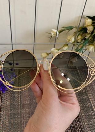 Солнцезащитные очки на крупное личико4 фото