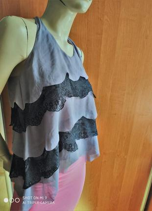 Роскошная нарядная блуза многослойная