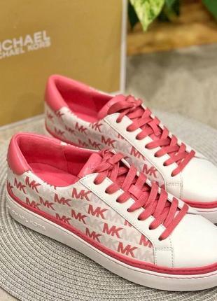 Кроссовки michael kors chapman tea rose sneakers кожа оригинал